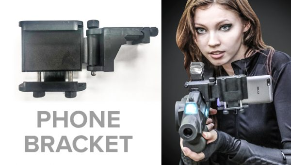 Phone bracket for BRX Laser Tag Rifle