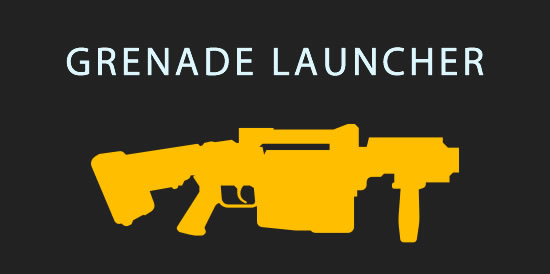 laser tag grenade laucher